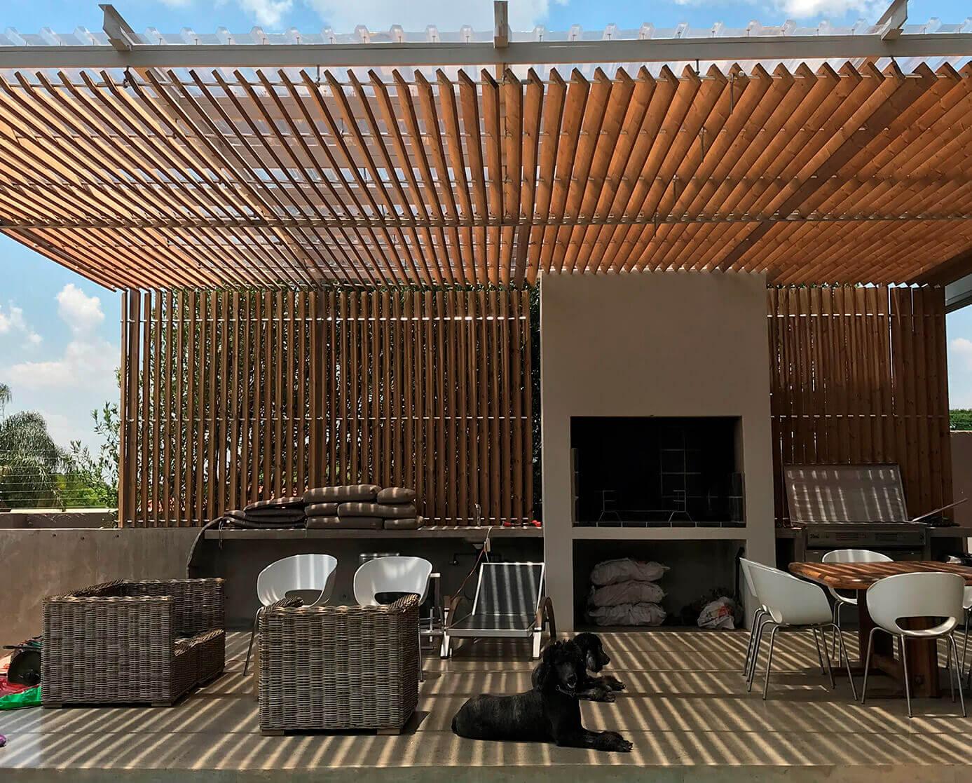Wooden pergola for sun and privacy | Pergola patio, Modern
