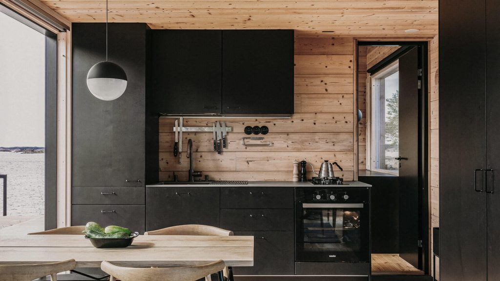 Project-Archipelago cabin Finland-Lunawood-Thermowood-interior-panel