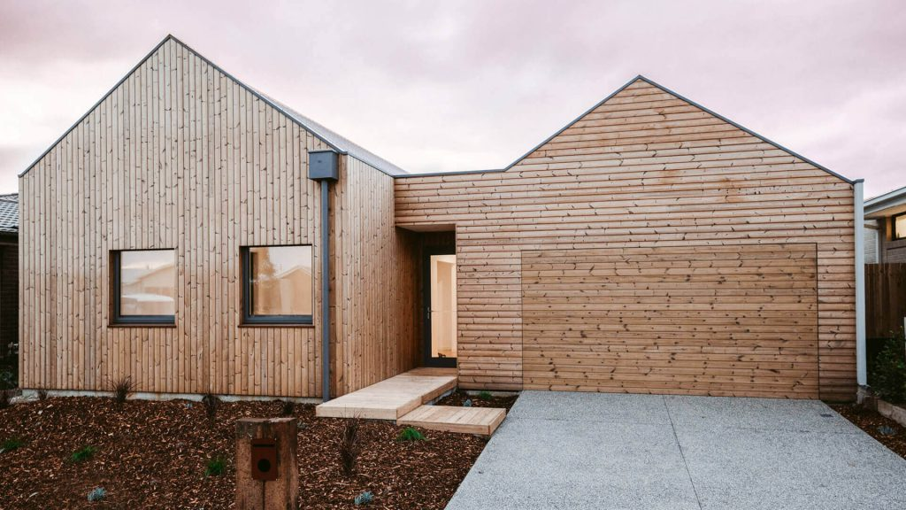 Lunawood Thermowood Facade in Australia
