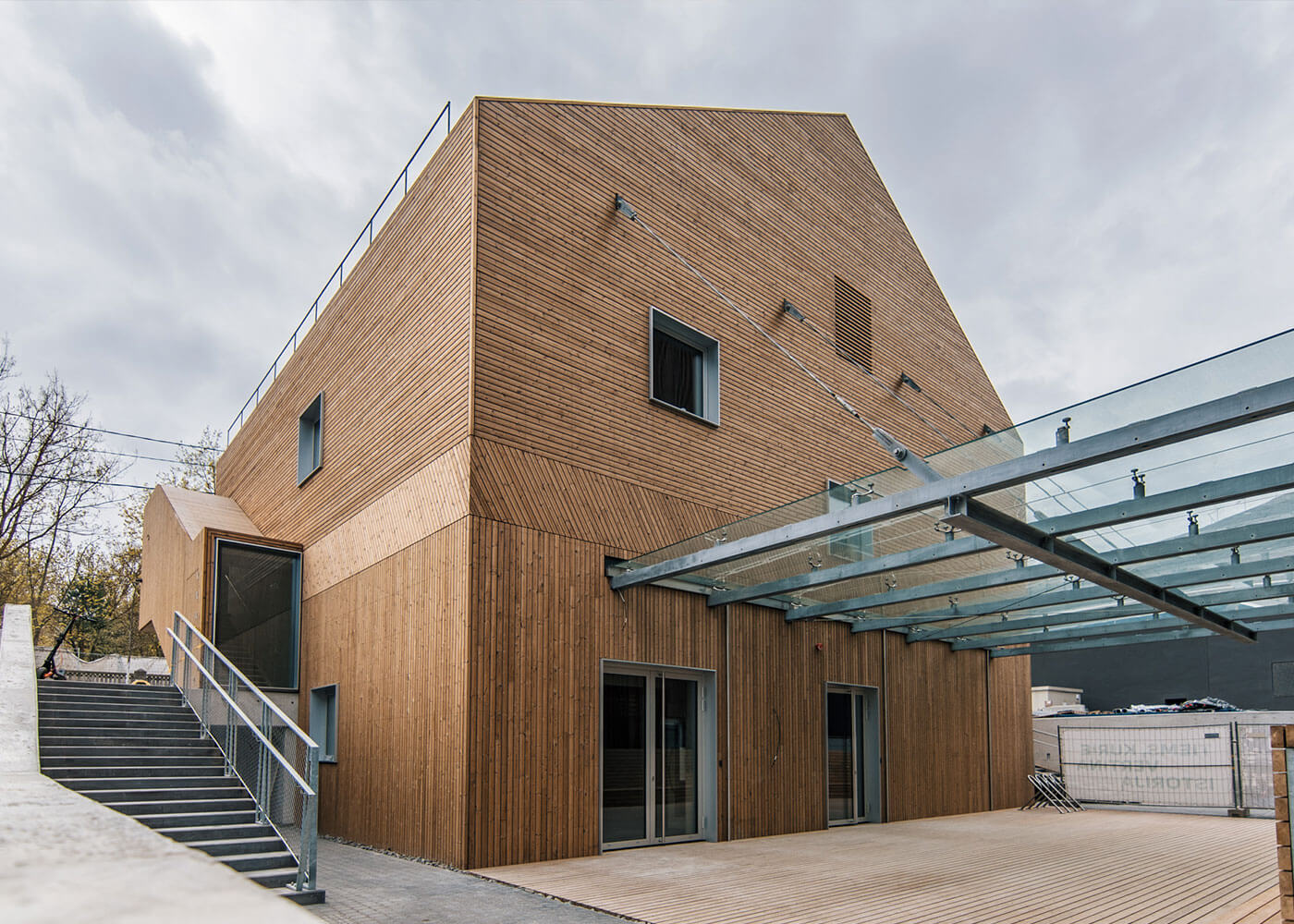 Cinema in Lithuania with Lunawood Thermowood cladding